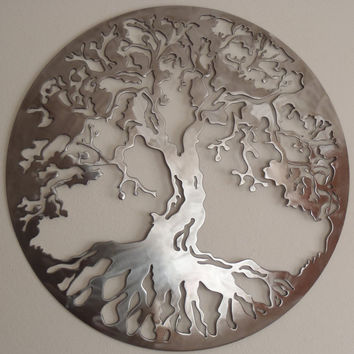 Tree Of Life LARGE Wall decor Metal Art by Tibi291 on Etsy