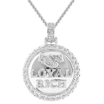 Royal Rich Gang Iced Out 3D Circle Rapper Pendant Chain