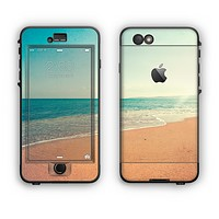 The Vintage Beach Scene Apple iPhone 6 Plus LifeProof Nuud Case Skin Set