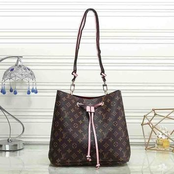 Louis Vuitton Women Fashion Leather Satchel Shoulder Bag Handbag-6