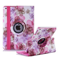 Lucky Flower Sweet Floral girl's Leather case for iPad Air 2,360 Leather Cases Stand Cover for Apple iPad Air 2 /iPad 6