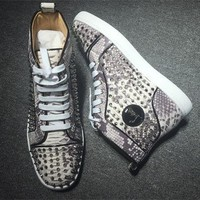 Cl Christian Louboutin Louis Spikes Style #1857 Sneakers Fashion Shoes - Best Deal Online