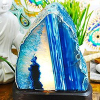 Agate Lamp Blue - Better Than Salt Lamp - Best quality Gemstone Lamp. Authentic Yellow Tree Company Lamp, Better than Himalayan Salt Lamp.ABL