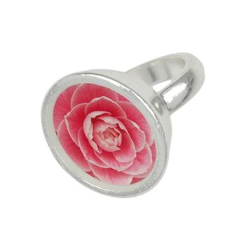 Pink Camellia Blossom Floral Ring