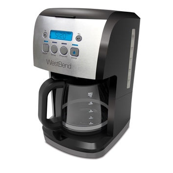 West Bend 56911 12 Cup Steep & Brew Coffee Maker Black/Metallic Coffeemaker