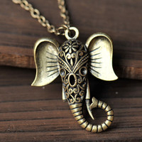 Auspicious necklacehollow out elephant necklace by fantasticgift