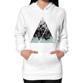 CREYUG7 Geometric Conversation Hoodie (on woman)