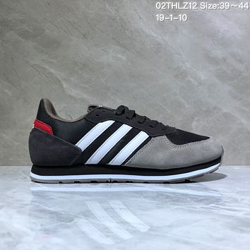 KUYOU A436 Adidas NEO 8K Suede Mesh Fashion Casual Running Shoes Black Gray Red