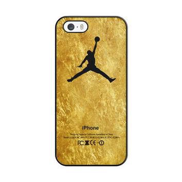 Michael Jordan Golden Gold Pattern iPhone 5|5S Case