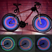 Super-hyun 32 LED 32 Patterns Cycling Bikes Bicycles Wheel Tire Spoke Light (Size: 2) = 1706041092