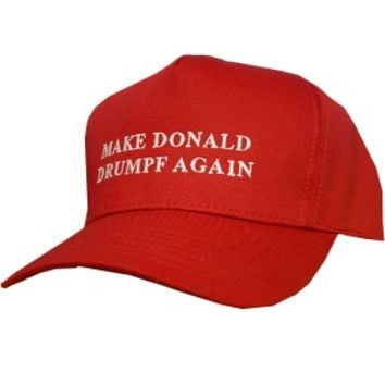 Make Donald Drumpf Again Baseball Cap -- Red