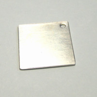 1 inch sterling silver square stamping blank in 20 gauge