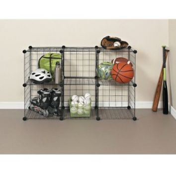 ClosetMaid 6-Cube Wire Organizer - Black