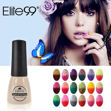 Elite99 Thermal Mood Color Changing Nail Gel Polish 7 ml Nail Art Glaze Temperature Color Chageable Nails Polish Gel Varnish