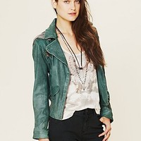 Free People Emerald City Leather Jacket