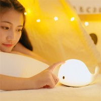Desk Night Lights Baby Room Whale Cartoon Night Light Kids Bed Table Lamp Sleeping Lamps With Bulb for Children Christmas Gift