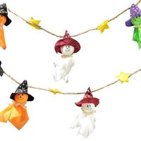 DKF4S Ghosts Garland Halloween Bunting Decorations Halloween Ghosts Wall Hanging Home Decor