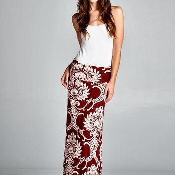 Free Love Printed Maxi Skirt