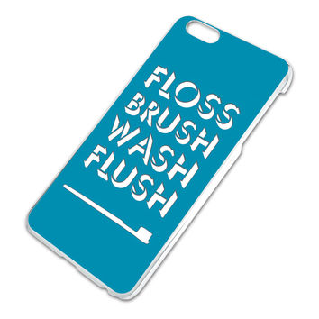 Floss Brush Wash Flush iPhone 6 Plus Slim Fit Case