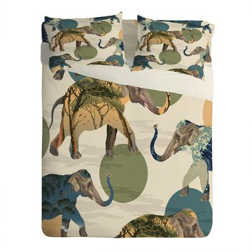 Belle13 Elephant Polka Sheet Set Lightweight