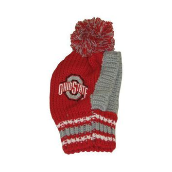 PEAPYW9 Ohio State Buckeyes Pet Knit Hat