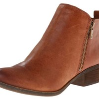 Lucky Brand Basel Toffee Leather Booties
