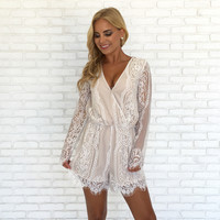 In the Nude Lace Romper