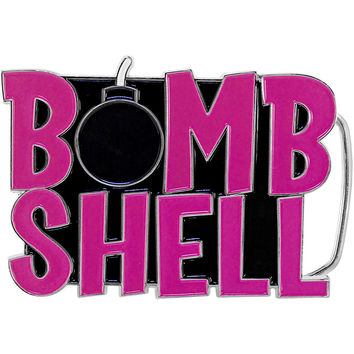 Pink BOMB SHELL Belt Buckle