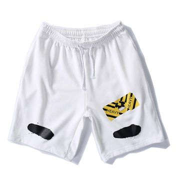 Off White Women Men Casual Sport Shorts-2