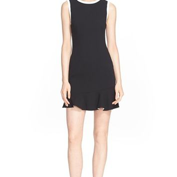 Women's Emilio Pucci Ruffle Hem Stretch Wool Dress,