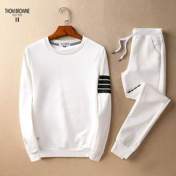 ONETOW Boys & Men Thom Browne Top Sweater Pullover Pants Trousers Set Two-Piece Sportswear