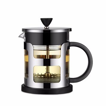 Stainless Steel Portable French Press Coffee Pot Tea Maker Machine Moka With Strainer Filter Travel