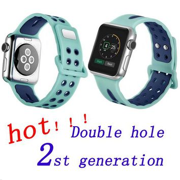 BEST price Silicone Band For Apple Watch 42mm , Strap for iWatch Sport 38mm rubber