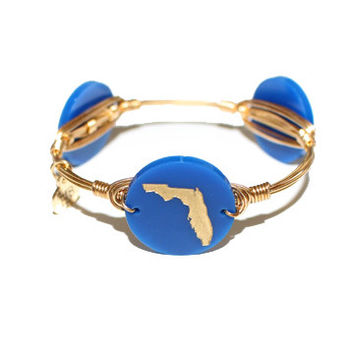 Moon & Lola xx Bourbon & Boweties Florida Bangle - Blue