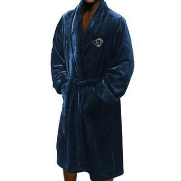 "Los Angeles Rams NFL 26""x 47"" Large/Extra Large Silk Touch Men's Bath Robe"