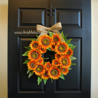 WREATHS ON SALE fall wreaths sunflowers wreaths for front door wreaths decorations home and living gift ideas outdoor wreaths