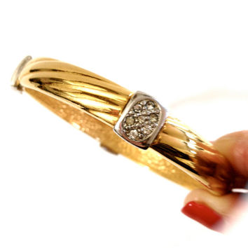 Vintage Erwin Pearl Gold Plated Bangle