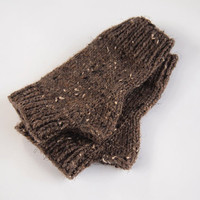custom knit vegan fingerless mittens-- the condyle wool free wristwarmers in barley