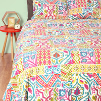 Patchwork Out a Routine Quilt Set in Full/Queen | Mod Retro Vintage Decor Accessories | ModCloth.com