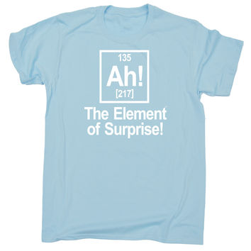 123t USA Kids Ah The Element Of Surprise Funny T-Shirt Ages 3-13