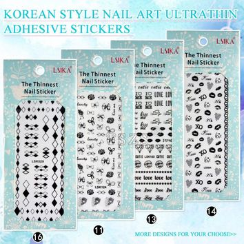 1pcs/lot Self Adhesive Bow Heart lace star Nail Art Stickers Transfer Decals