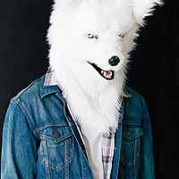 Talking White Wolf Mask