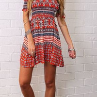 Off-the-Shoulder Hippie Dress