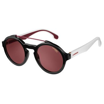 Carrera - 1002/S Black / White Sunglasses, Burgundy Lenses