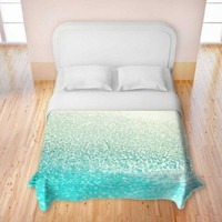 Duvet Covers Premium Woven Twin, Queen, King from DiaNoche Designs by Monika Strigel Unique, Cool, Fun, Funky, Artistic, Designer, Stylish Home Decor and Bedroom Ideas - Gatsby Mint