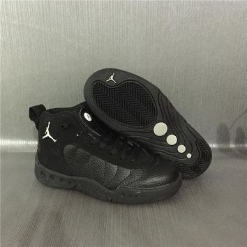 PEAPGE2 Beauty Ticks Jordan Jumpman Pro Aj12.5 Black Kids Sneaker Shoe Size Us 11c-3y