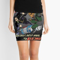 'Battle of the 23rd Century!' Mini Skirt by Brian Belanger