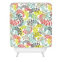 Heather Dutton Undertow Coral Shower Curtain