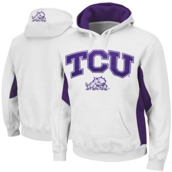 TCU Horned Frogs Home Turf Fleece Pullover Hoodie - White/Purple
