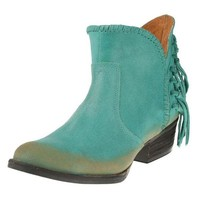 DCCKAB3 Circle G by Corral Turquoise Fringe Shortie Boots